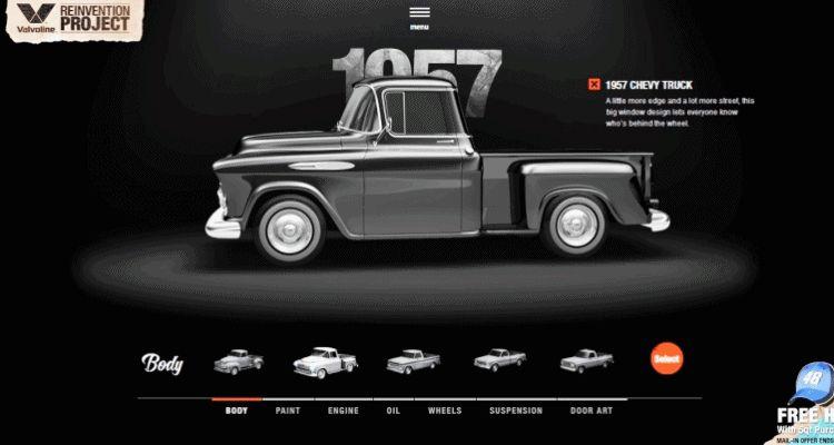 1957 VALVOLINE Reinvention Chevy Truck GIF1