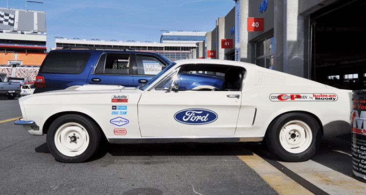 1968 Ford Drag Team - Mustang 428 Cobra Jet HEADER GIF