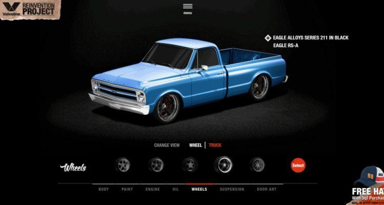 1968 VALVOLINE Reinvention Chevy Truck GIF1 Wheels