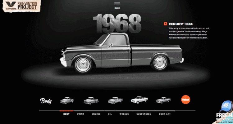 1968 VALVOLINE Reinvention Chevy Truck GIF1