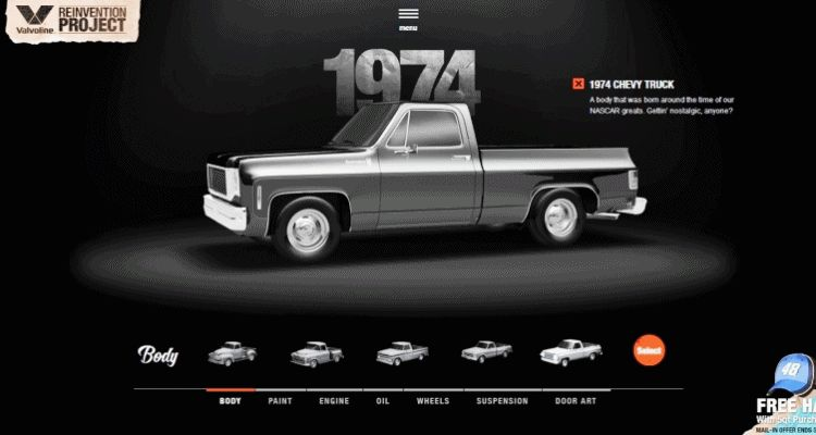 1972 VALVOLINE Reinvention Chevy Truck GIF1