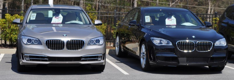 2014 BMW 750Li Definitely Not Beautiful or Focused -- But Less Adrift as SWB 750i with Squared-Off LED Lights Option 5