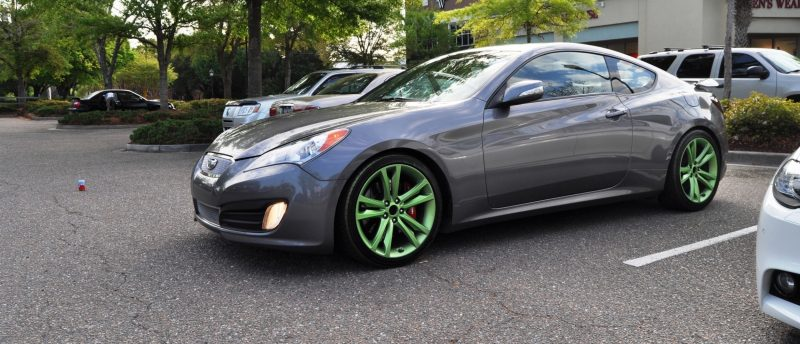 2014 Hyundai Genesis Coupe 3.6 R-Spec at Cars & Coffee - Wearing Custom Lime Green Wheels11