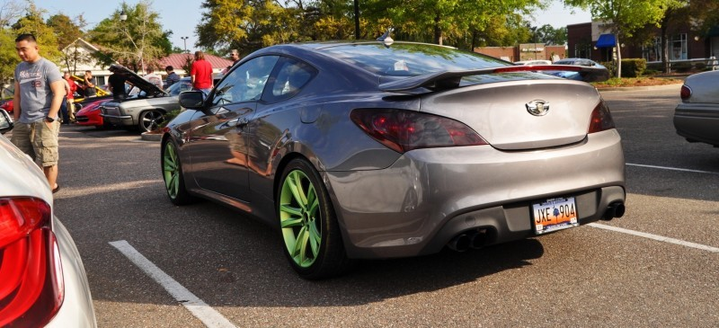 2014 Hyundai Genesis Coupe 3.6 R-Spec at Cars & Coffee - Wearing Custom Lime Green Wheels14