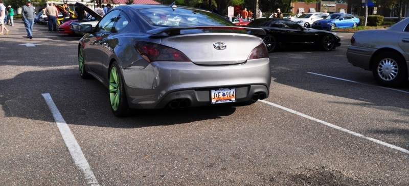 2014 Hyundai Genesis Coupe 3.6 R-Spec at Cars & Coffee - Wearing Custom Lime Green Wheels15