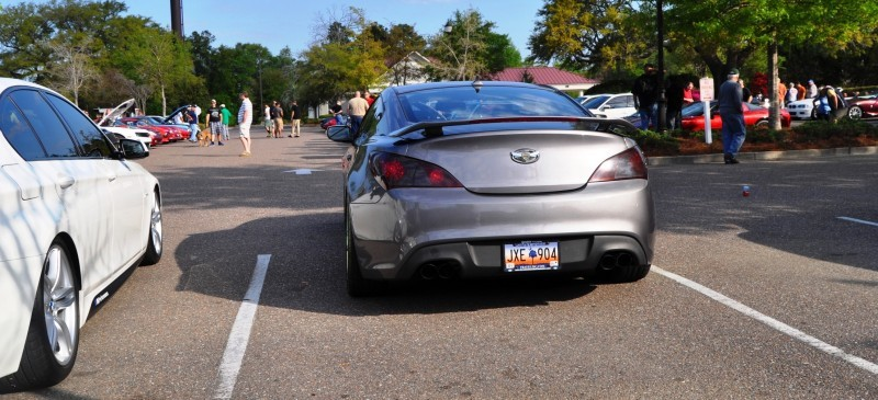 2014 Hyundai Genesis Coupe 3.6 R-Spec at Cars & Coffee - Wearing Custom Lime Green Wheels16