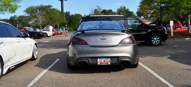 2014 Hyundai Genesis Coupe 3.6 R-Spec at Cars & Coffee - Wearing Custom Lime Green Wheels17