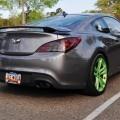 2014 Hyundai Genesis Coupe 3.6 R-Spec at Cars & Coffee - Wearing Custom Lime Green Wheels!