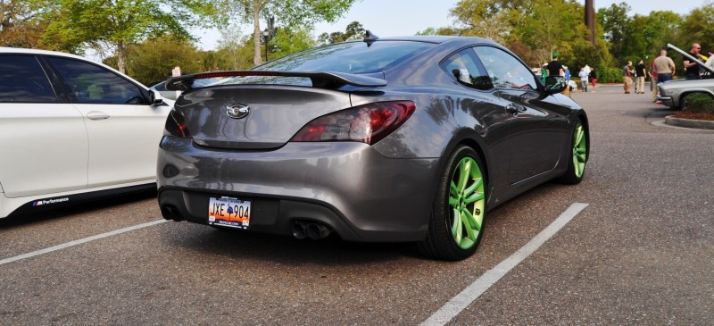 2014 Hyundai Genesis Coupe 3.6 R-Spec at Cars & Coffee - Wearing Custom Lime Green Wheels19