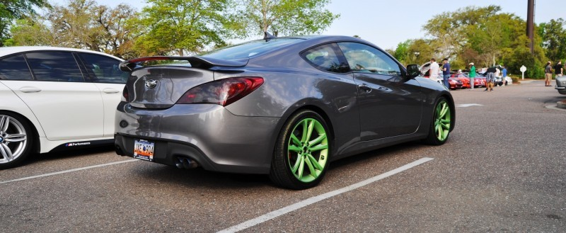 2014 Hyundai Genesis Coupe 3.6 R-Spec at Cars & Coffee - Wearing Custom Lime Green Wheels20
