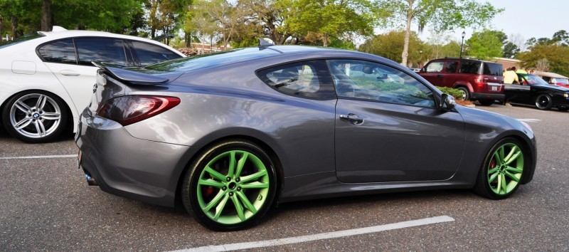 2014 Hyundai Genesis Coupe 3.6 R-Spec at Cars & Coffee - Wearing Custom Lime Green Wheels22