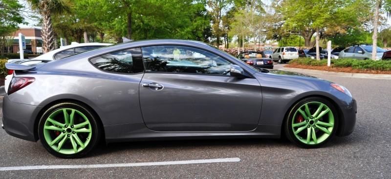 2014 Hyundai Genesis Coupe 3.6 R-Spec at Cars & Coffee - Wearing Custom Lime Green Wheels23