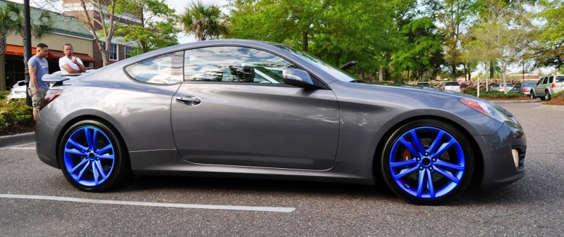 2014-Hyundai-Genesis-Coupe-3.6-R-Spec-at-Cars-&-Coffee---Wearing-Custom-Lime-Green-Wheels24blue