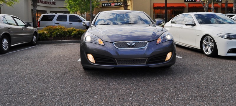 2014 Hyundai Genesis Coupe 3.6 R-Spec at Cars & Coffee - Wearing Custom Lime Green Wheels5