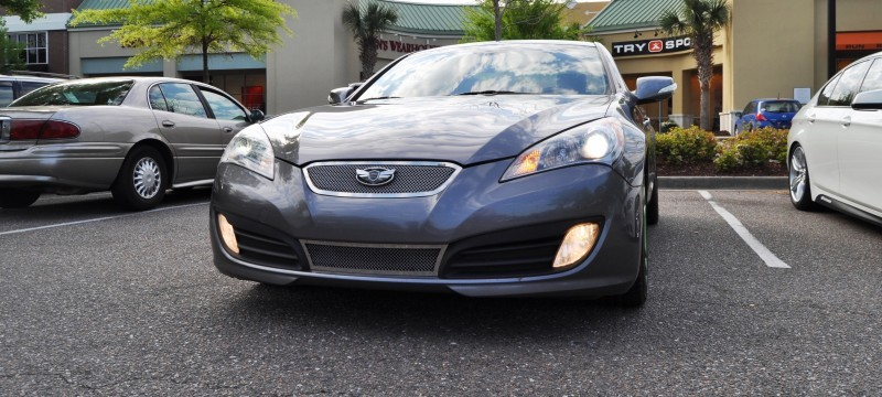 2014 Hyundai Genesis Coupe 3.6 R-Spec at Cars & Coffee - Wearing Custom Lime Green Wheels7