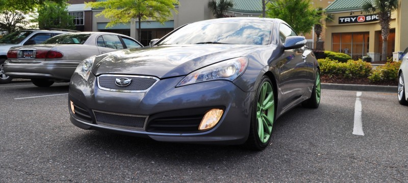 2014 Hyundai Genesis Coupe 3.6 R-Spec at Cars & Coffee - Wearing Custom Lime Green Wheels8