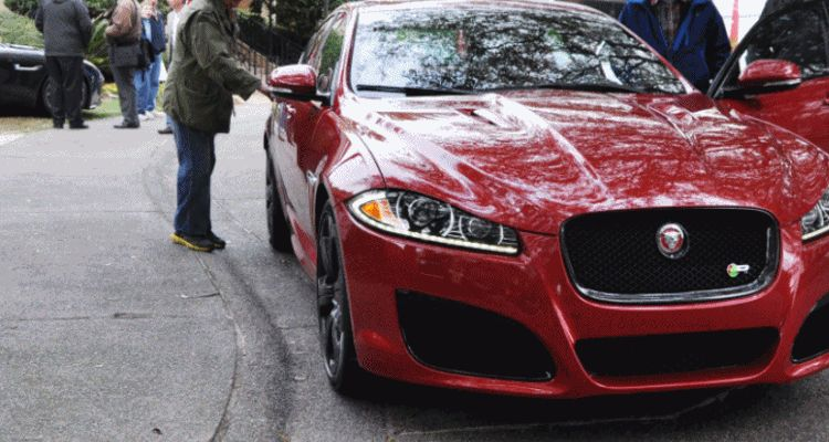 2014 JAGUAR XFR -- Driving Review with Full-Throttle Rolling Sprint + Exhaust Bellow 9999 GIF