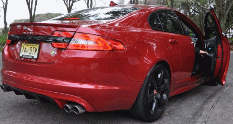 2014 JAGUAR XFR -- Driving Review with Full-Throttle Rolling Sprint + Exhaust Bellow G88IF