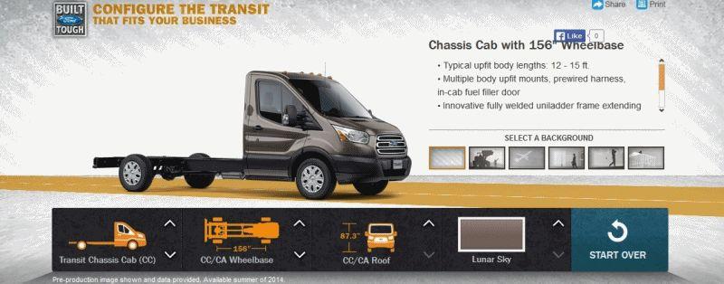 2015 FORD Transit Chassic Cab Van GIF