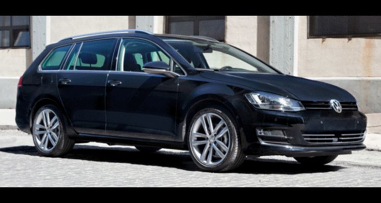 2015 VW Golf TDI SportWagen Animated GIF
