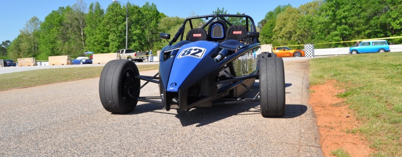 Ariel Atom Duo on Slicks at the Road Atlanta Skidpad for ATL Driving Experience 1