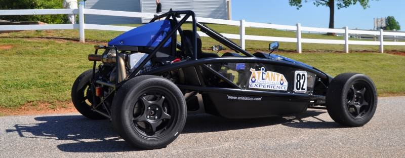 Ariel Atom Duo on Slicks at the Road Atlanta Skidpad for ATL Driving Experience 10