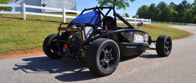 Ariel Atom Duo on Slicks at the Road Atlanta Skidpad for ATL Driving Experience 11