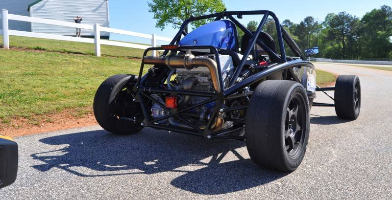 Ariel Atom Duo on Slicks at the Road Atlanta Skidpad for ATL Driving Experience 12