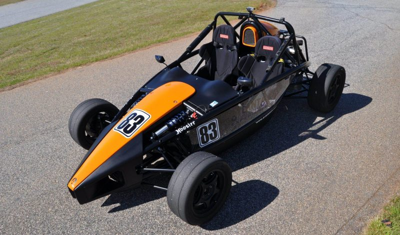 Ariel Atom Duo on Slicks at the Road Atlanta Skidpad for ATL Driving Experience 13