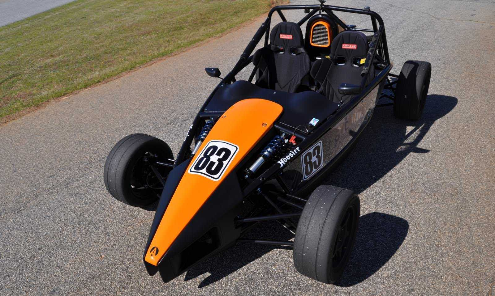 Ariel Atom Duo on Slicks at the Road Atlanta Skidpad for ATL Driving Experience 14