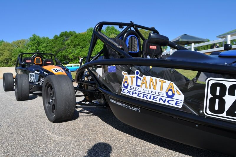 Ariel Atom Duo on Slicks at the Road Atlanta Skidpad for ATL Driving Experience 16