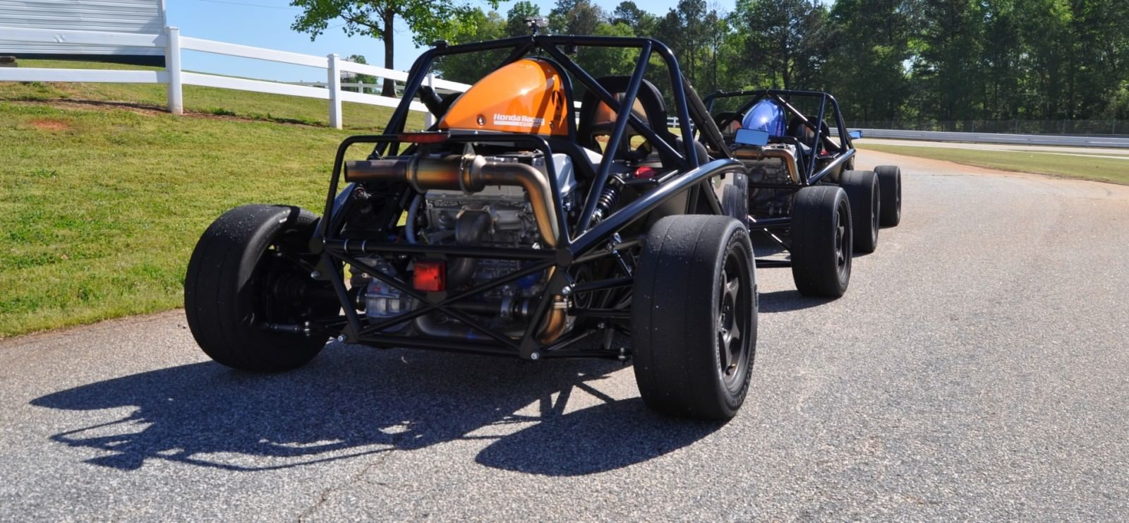 Ariel Atom Duo on Slicks at the Road Atlanta Skidpad for ATL Driving Experience 17