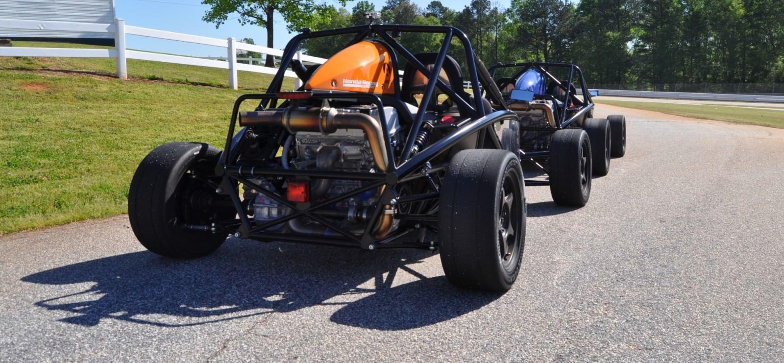 Ariel Atom Duo on Slicks at the Road Atlanta Skidpad for ATL Driving Experience 17