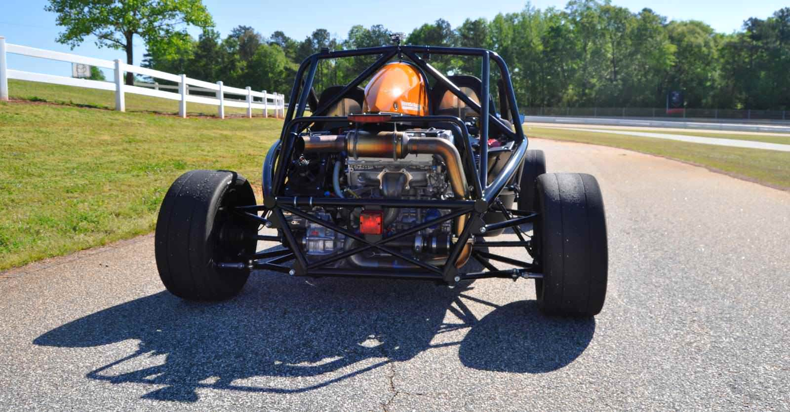 Ariel Atom Duo on Slicks at the Road Atlanta Skidpad for ATL Driving Experience 18