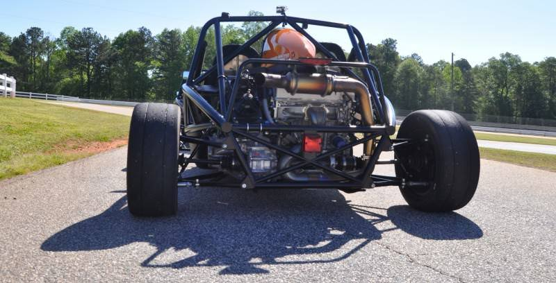 Ariel Atom Duo on Slicks at the Road Atlanta Skidpad for ATL Driving Experience 19