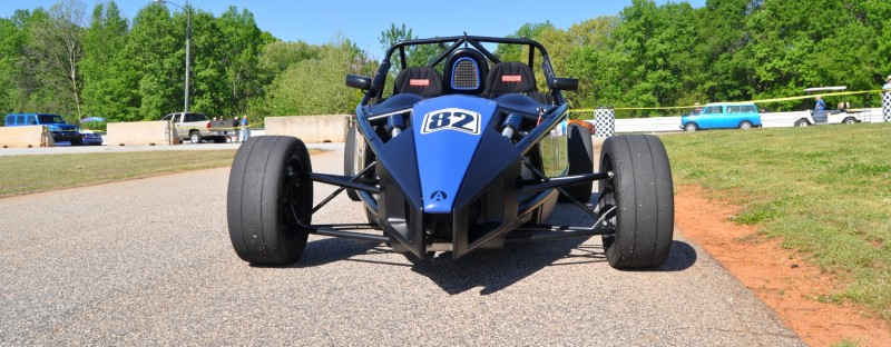 Ariel Atom Duo on Slicks at the Road Atlanta Skidpad for ATL Driving Experience 2