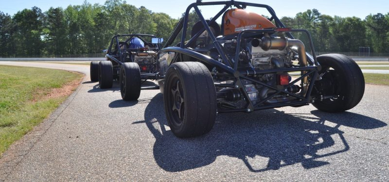 Ariel Atom Duo on Slicks at the Road Atlanta Skidpad for ATL Driving Experience 20