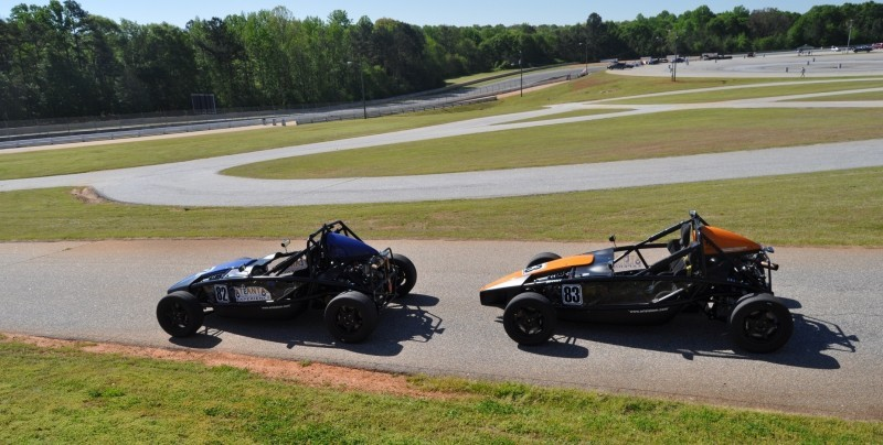 Ariel Atom Duo on Slicks at the Road Atlanta Skidpad for ATL Driving Experience 22