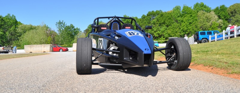 Ariel Atom Duo on Slicks at the Road Atlanta Skidpad for ATL Driving Experience 3