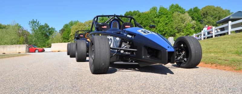 Ariel Atom Duo on Slicks at the Road Atlanta Skidpad for ATL Driving Experience 4