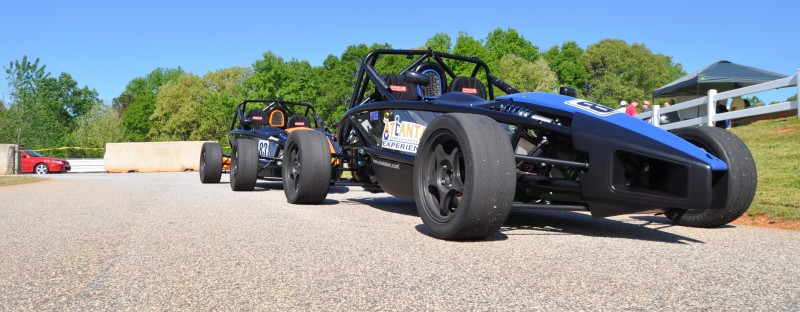 Ariel Atom Duo on Slicks at the Road Atlanta Skidpad for ATL Driving Experience 5