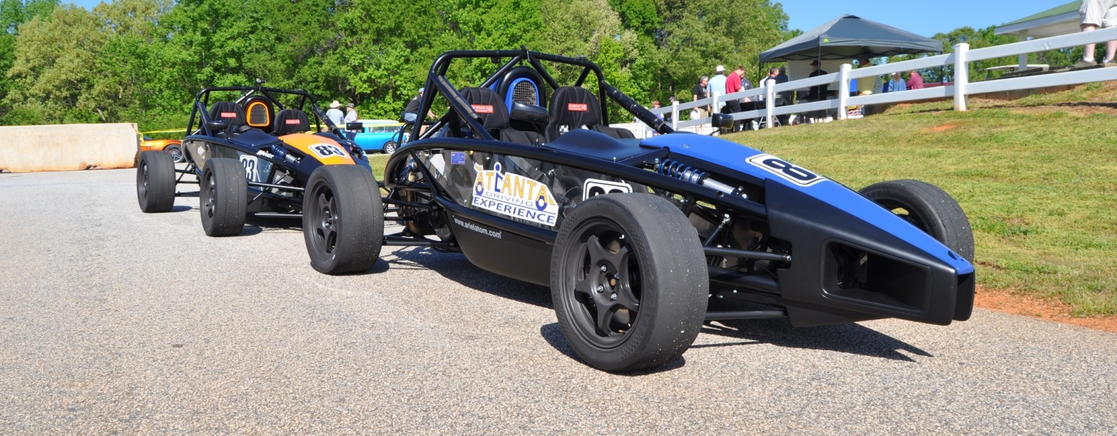 Ariel Atom Duo on Slicks at the Road Atlanta Skidpad for ATL Driving Experience 6