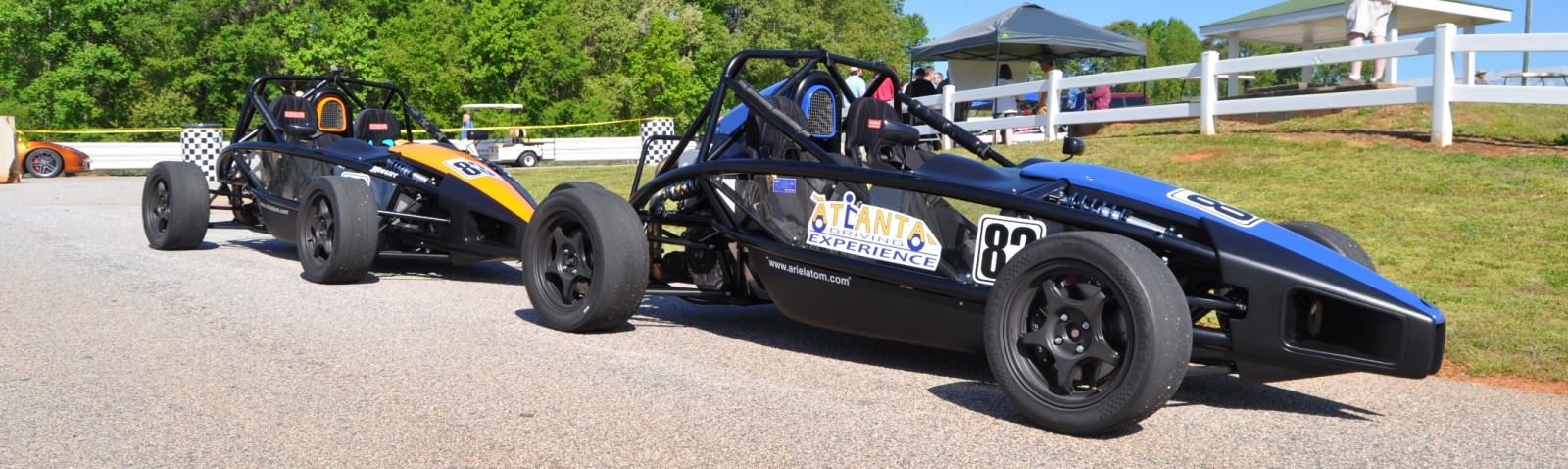 Ariel Atom Duo on Slicks at the Road Atlanta Skidpad for ATL Driving Experience 7