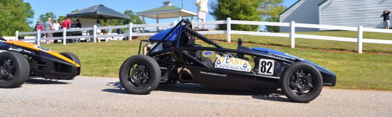 Ariel Atom Duo on Slicks at the Road Atlanta Skidpad for ATL Driving Experience 9