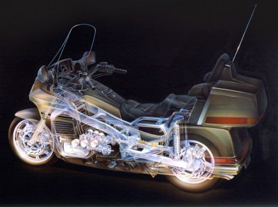 Automotive Artist Showcase -- 3D Mechanical Illustrator Hisashi Saito -- 30 Stunning See-Through Honda Designs 26