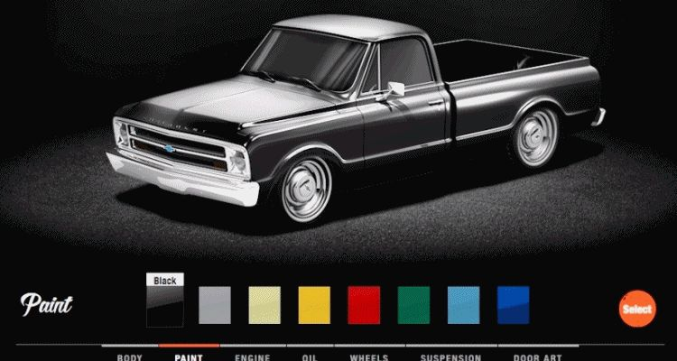 COLORS 1968 VALVOLINE Reinvention Chevy Truck GIF1 Wheels