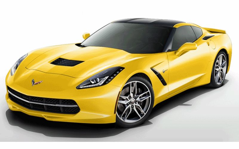 CarRevsDaily - 2014 Corvette Stingray Colors Animation222 GIF