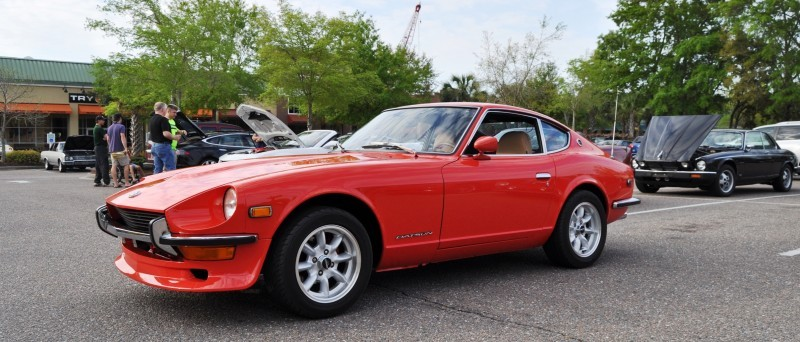 Classic Sports Car Showcase -- Datsun 240Z at Cars & Coffee -- Immaculate in 30 Glowing Orange Photos 10