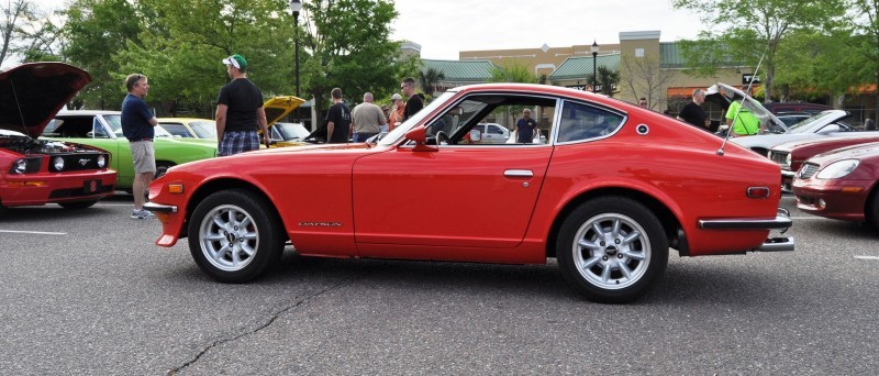 Classic Sports Car Showcase -- Datsun 240Z at Cars & Coffee -- Immaculate in 30 Glowing Orange Photos 15