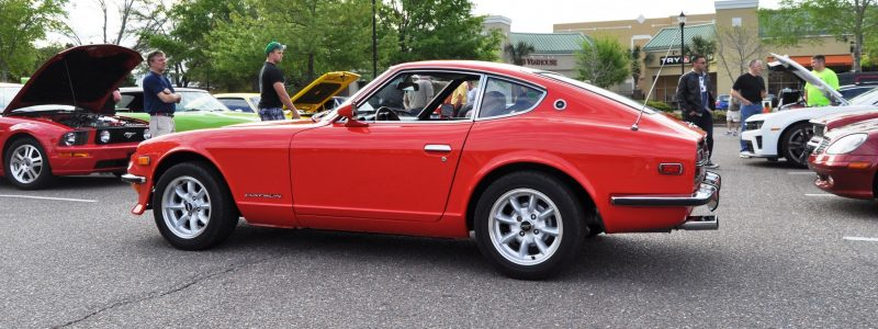 Classic Sports Car Showcase -- Datsun 240Z at Cars & Coffee -- Immaculate in 30 Glowing Orange Photos 16